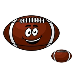 Brown leather football with a happy smile vector image