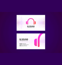 business card template for dj and music business vector image