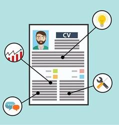 Business CV resume skills vector