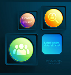 business interface infographic design concept vector image