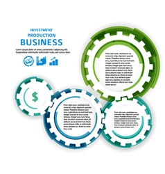 business investment concept brush effect it draw vector image