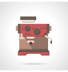 Cafe coffee making flat color design icon vector