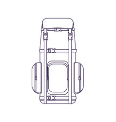 camping and travel backpack linear icon vector image