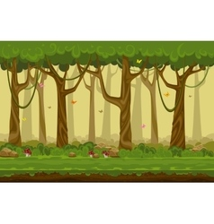 Cartoon forest landscape endless nature vector