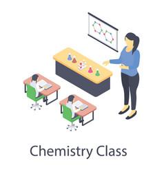 Chemistry experiment class vector