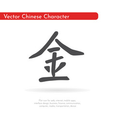 chinese character metal vector image