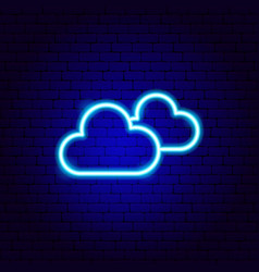 cloudy neon sign vector image