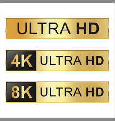 Collection of full hd 4k 8k and ultra hd icons 01 vector