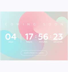 countdown timer digital clock vector image