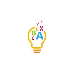 creative abstract bulb alphabet logo design symbol vector image