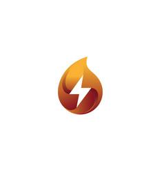 creative red drop thunder logo vector image