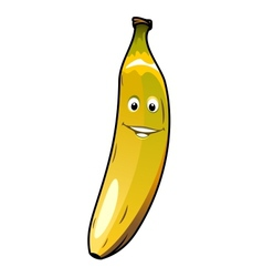 Cute cheeky smiling cartoon banana vector image vector image