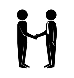 deal handshake man vector image