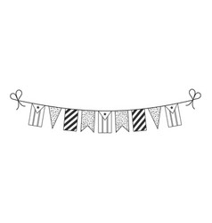Decorations bunting flags for south sudan vector