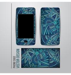 decorative ethnic background on phone vector image