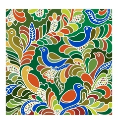 Exotic decorative design with birds vector image