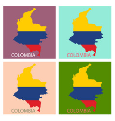 flag-map of colombia vector image