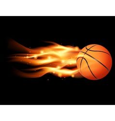 Flaming Basketball vector