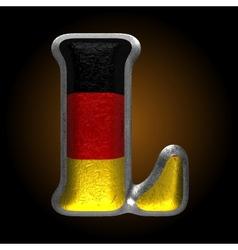 Germany metal figure l vector