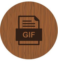 Gif file document icon vector