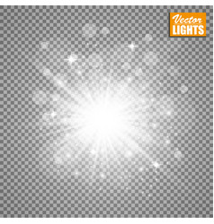 glow light effect christmas vector image