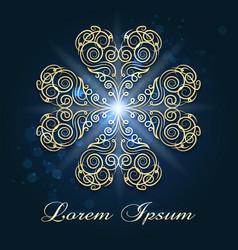 golden swirls emblem vector image