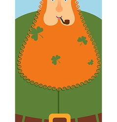 Good leprechaun Portrait of cheerful old man with vector image