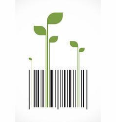 green bar code vector image