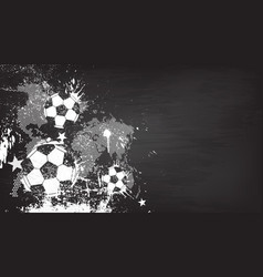 Grunge abstract football background vector