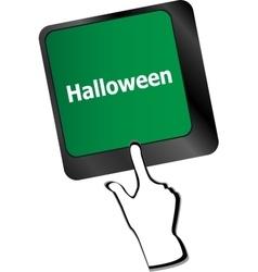 Halloween key on computer keyboard keys isolated vector