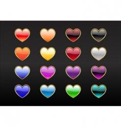 heart shape buttons vector image