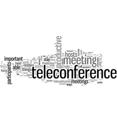 How to make your teleconference productive vector