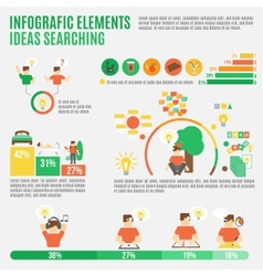 Ideas Infographic Set vector image vector image
