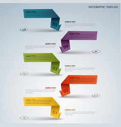 info graphic with color labels from folded paper vector image