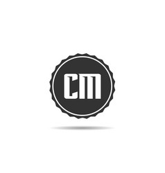 initial letter cm logo template design vector image