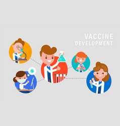 lab research development vaccine or drug vector image