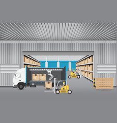 Logistics transportation vector