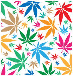 Marijuana color pattern background vector
