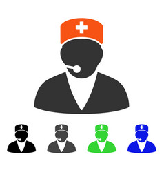Medical operator flat icon vector