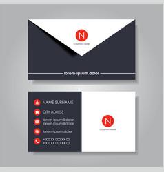 modern business card template flat design vector image