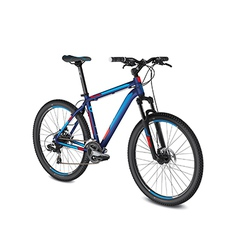 mountain blue red bike vector image