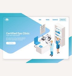 ophthalmology isometric banner vector image