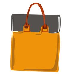 Orange bag on white background vector