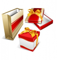 package and box vector image vector image