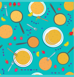 Pancake seamless pattern vector