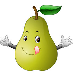 Pear with face vector
