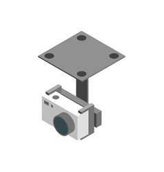 photo camera isometric view vector image