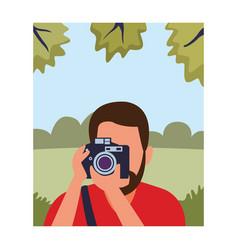 Photographer profession avatar vector