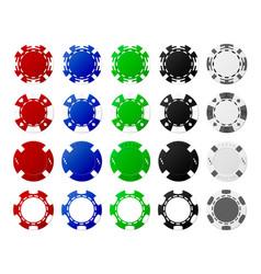 poker chips vector image