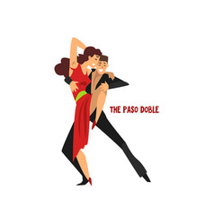 Professional dancer couple dancing the paso doble vector